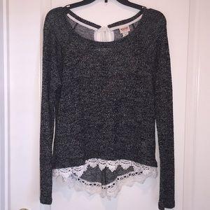 Sheer sweater